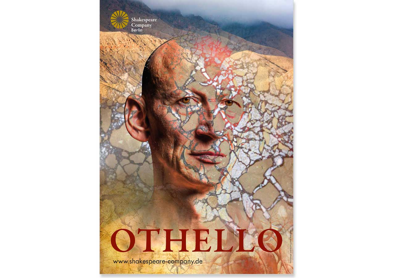 "Plakat, ""Othello"", Shakespeare Company Berlin"